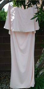 Forever 21 shell pink strapless maxi dress